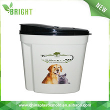 pet storage stackable and nestable plastic containers