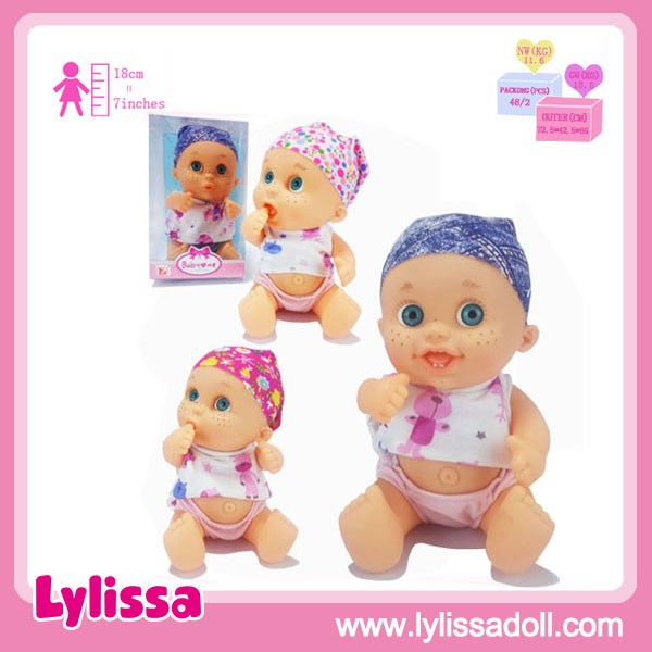 New Design 11 Inch Three Kinds Emotional Expression Mini Doll Lovely Baby Doll