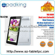 7 inch Dual Core VIA 8880 Tablets PC 2013 New Product on Market