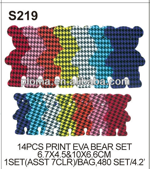 EVA DECORATION (S219) 14 PCS PRINT EVA BEAR SET