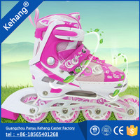 Wholesales latest roller skate shoes high quality adjustable stitching inline skate for children