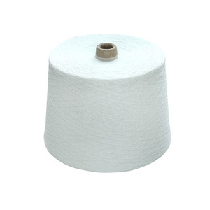 40s polyester spun yarn ring spun single yarn raw white virgin yarn