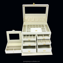 Wholesale Handmade Unfinished Wood Piano Jewelry Box with Drawer