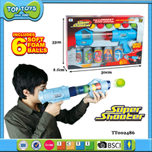 new design soft ball toy guns plastic toy gun with target toy for kid
