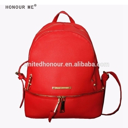 Hot selling high quality pu leather lady Leisure backpack