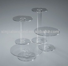 Wholesale Multilevel Clear Cake Stand Multi-layer Acrylic Cake Stand Cascade Cake Stand