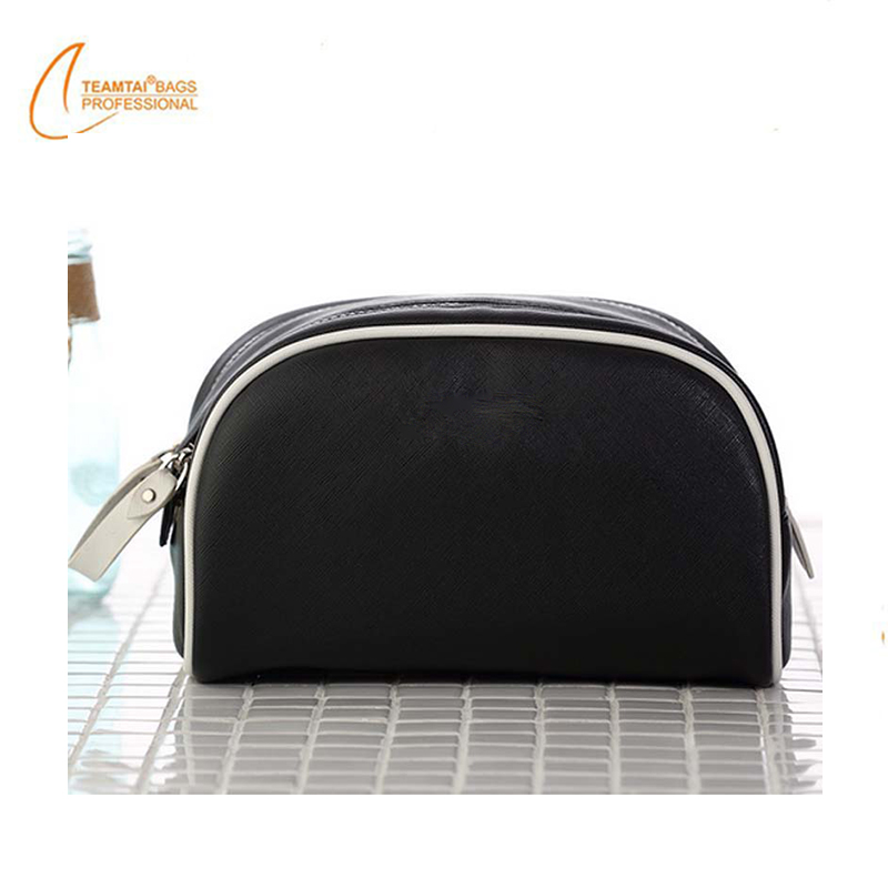 Hanging Toiletry Bag Travel Makeup Bag PU Leather Cosmetic Bag With Pocket