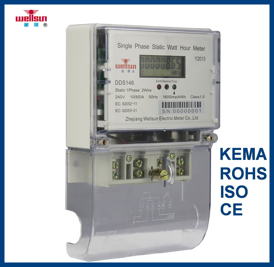 Single Phase Double Line Big LCD Electronic Meter (electric meter electricity meters)