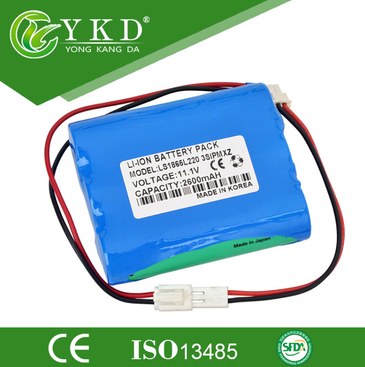 11.1V 2600mAh Li-ion replacement battery for Korea Bionet BM3 BM3 plus, BM-BAT-4, BM5 LS1865L220
