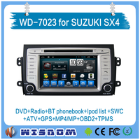 double din car dvd gps navigation for Suzuki SX4 2006 2007 2008 2009 2010 2011 car audio system with multi-language tpms ipod 3g