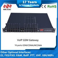 GSM Quad Terminal/Gateway with 16 ports , Icompatible with 3CX, Asterisk, Broadsoft
