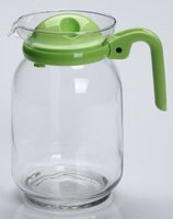 Glass Pitcher W/ Lid / Easy Pour Spout, Cold Water Pitcher Use for Ice Tea, Juice, Milk Bottle or for any Beverage Leak Proof