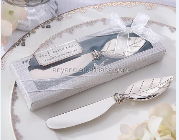 Stainless-Steel Spreader with leaf handle wedding thank you gifts for guests wedding return gift