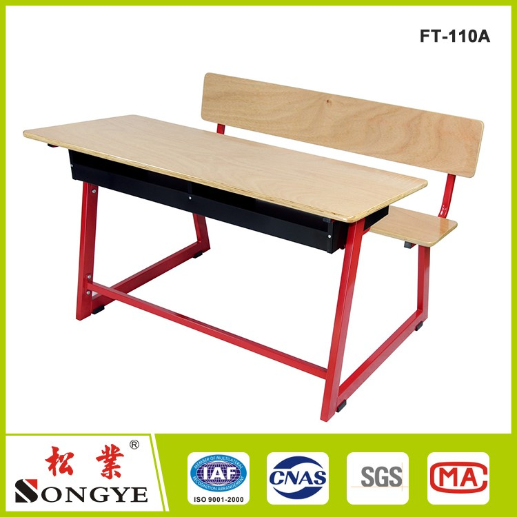 Double School Desk And Chair with 10years warranty