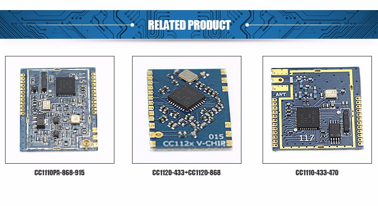 CC1310 Low Power SOC Remote Controller Industrial Grade RF Module