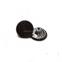 Lead free round alloy custom made metal buttons for jeans