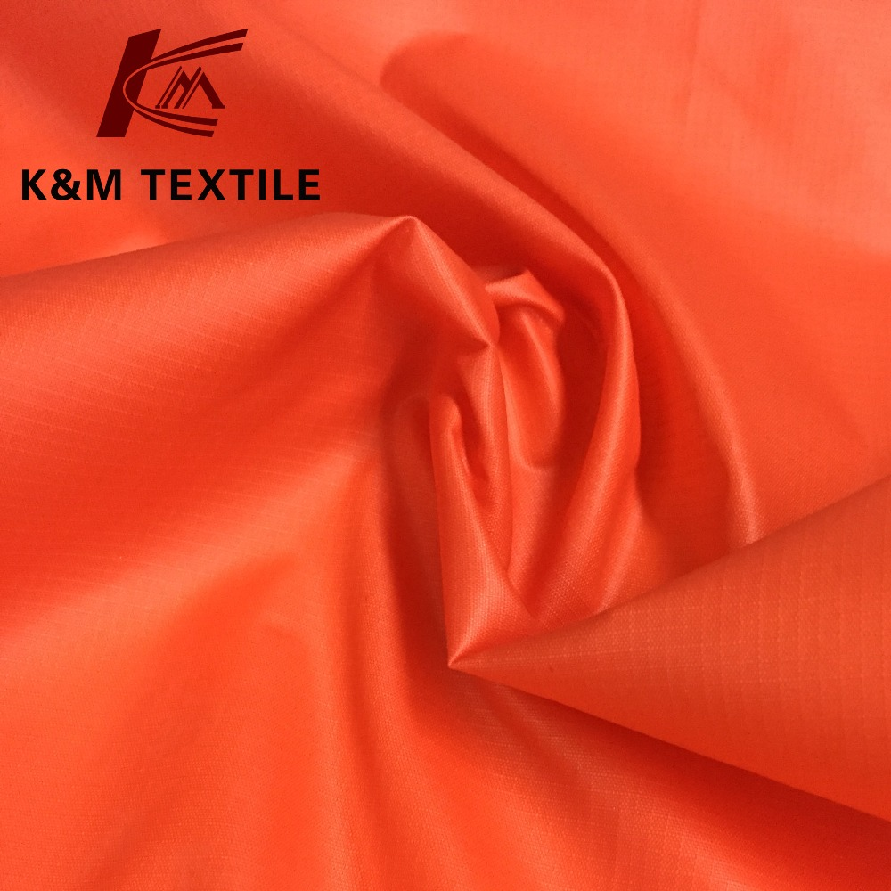 Nylon taffeta fabric waterproof coated 100 nylon 210t ripstop nylon taffeta