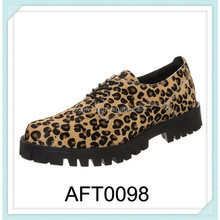 italian style leopard high quality men dress shoes