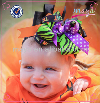 Halloween Hair bow - Boutique Hair Bow nemon series halloween hair bows
