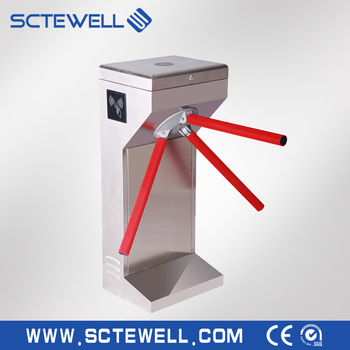 SS304 Security Electorbic Channel Access RFID Vertical Price Tripod Turnstile