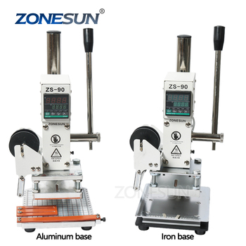 ZONESUN ZS90 Hot Stamp Foil Machine Manual For Leather