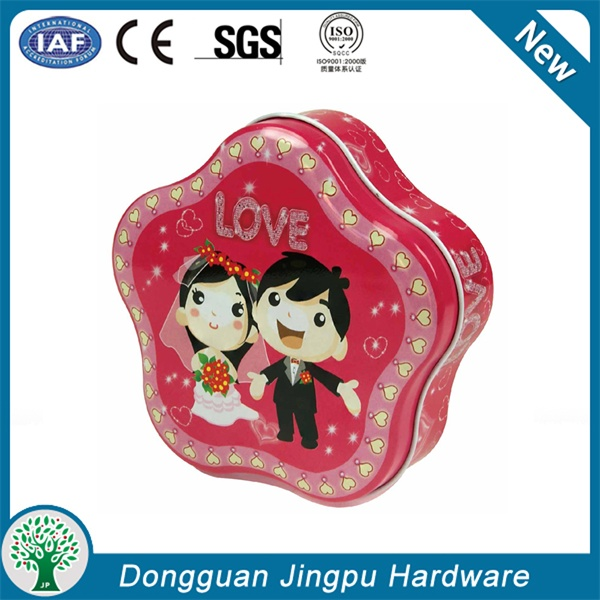 Hot Sale polygon Metal Wedding Favor Gift Box for Candy