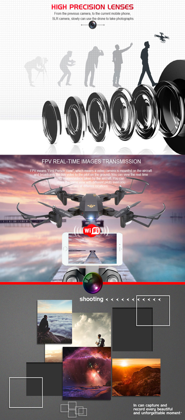 Hot selling ! Global Drone xs809w xs809hw dron with Wifi FPV 720P Camera Foldable Selfie Drone Altitude Hold RC Quadcopter
