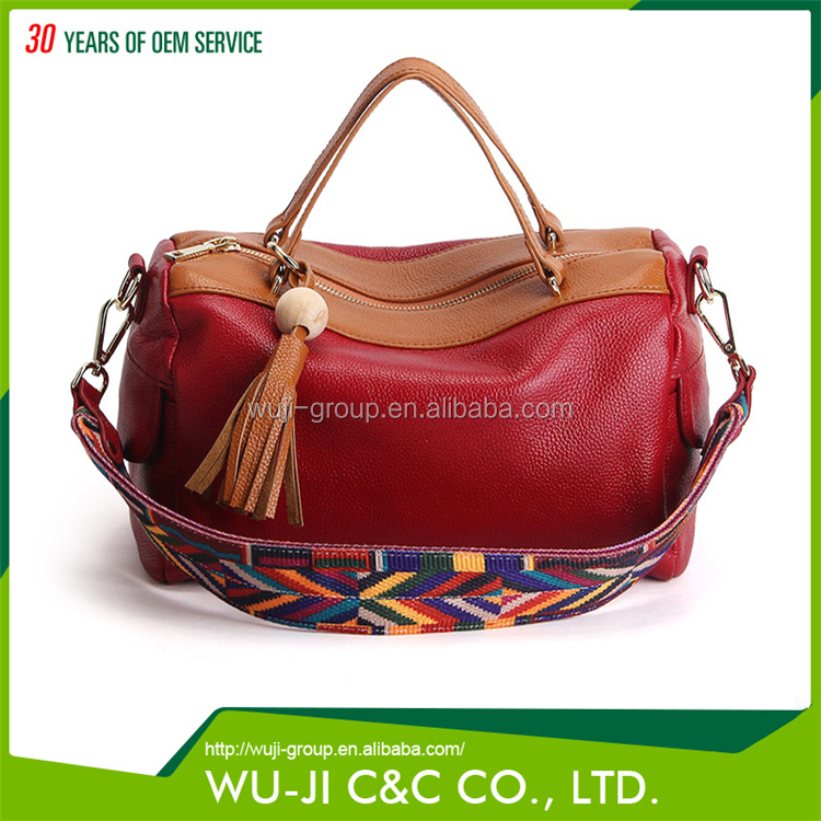 Different Color Full Grain Lady Full Leather Women Leather Bag Crazy Horse Leather Bag