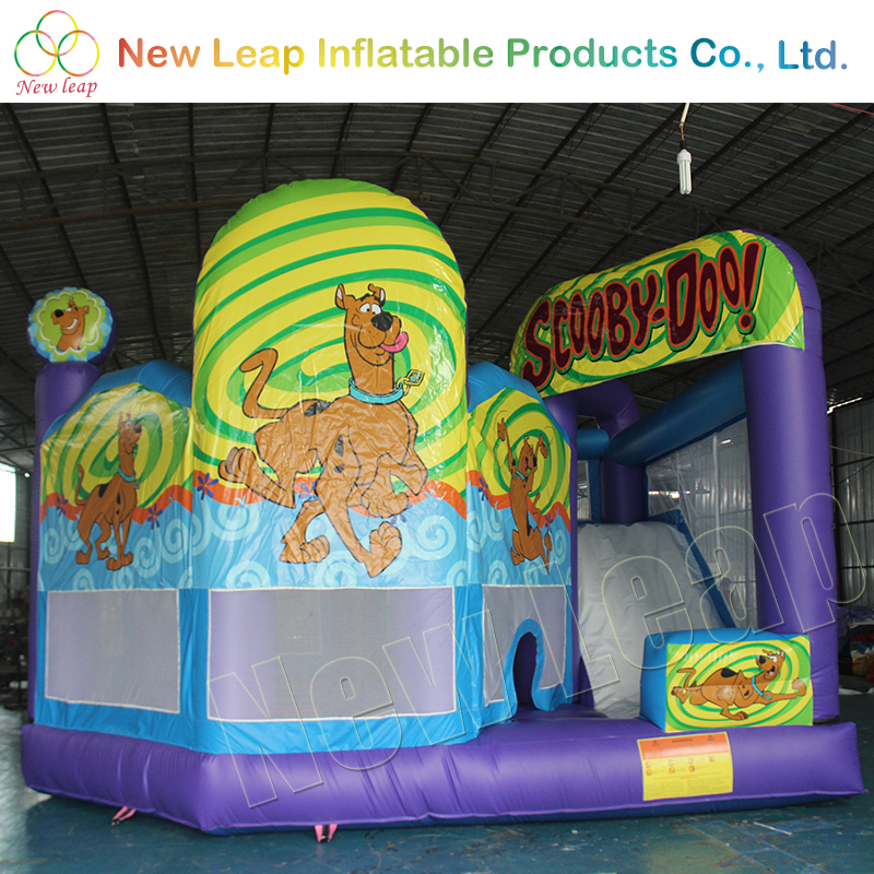 Best Quality PVC Material 0.55mm inflatable scooby doo bounce house
