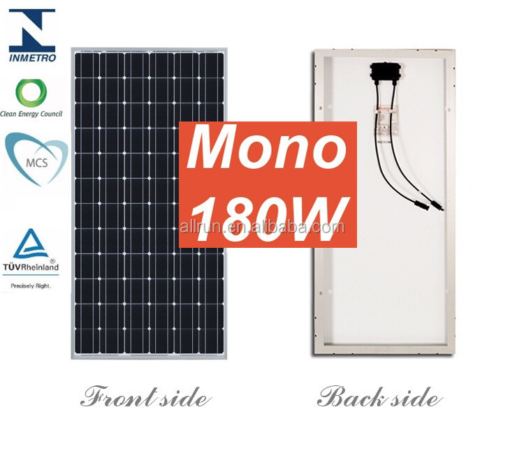 Direct factory competitive price 12V 180W solar panel for sale