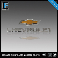 Famous self-adhesive 3d ABS plastic chrome car logo,car logo