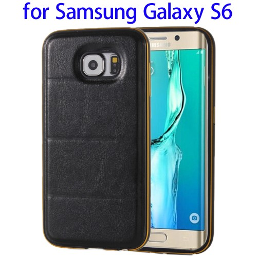 Fashion and Luxury Multifunctional Leather Flip Stand Cover Case for Samsung S6 with Wallet
