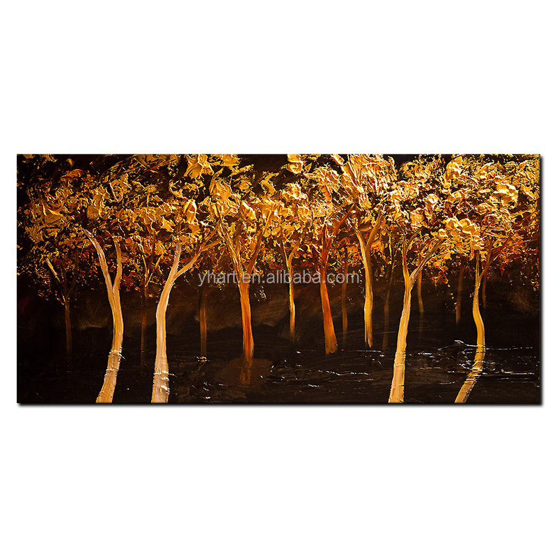 Wholesale Modern Landscape Wall Decor Abstract Handmade Landscape Oil Painting