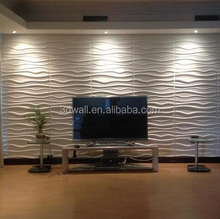 Modern eco-friendly bamboo fiber restaurant wall coverings 3d decorative wall panels