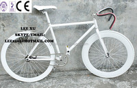 700c full white fox fixie gear bike