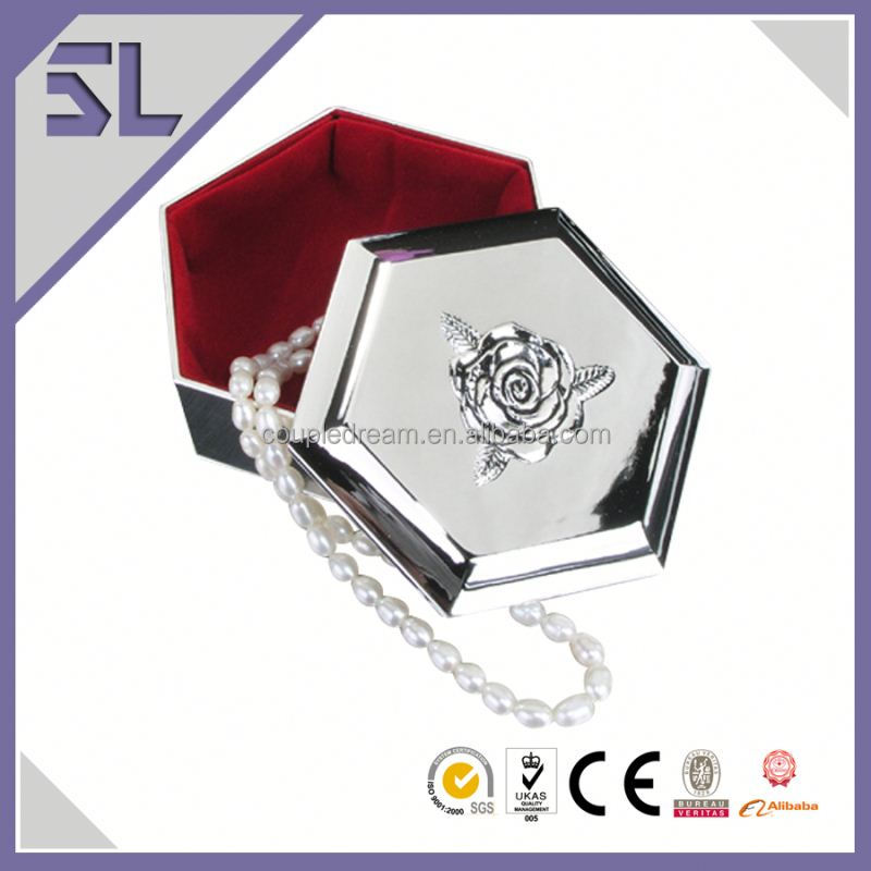 Jewelry Box Guangzhou Hexagonal Shaped Jewelry Box With Foam Insert