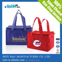Initi 80gsm non woven insulated pvc wine cooler bag for storage