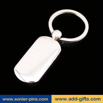 metal floating key chain stainless steel blank keyring zinc alloy