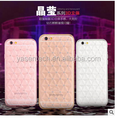 Diamond Bling crystal tpu case Plating Phone Case For iPhone 5 5S 6 6s / 6 Plus