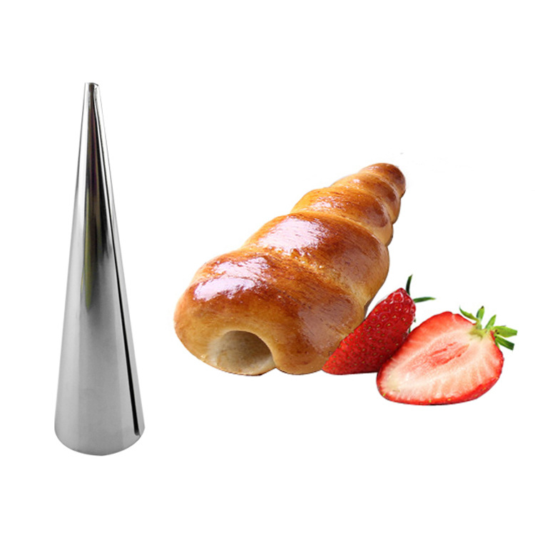 Stainless Steel Pastry Cream Horn Moulds Conical Tube Cone Pastry Baking Denmark Mold Tool