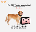 New Arrival Mini Waterproof Pets Collar GPS Tracker Cat Dog 4 Frequency GPRS GPS+LBS Dual Location