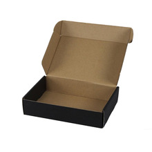 Brown Hot Stamping Gold Silver Pen Tuck Top Packaging Black Apparel Boxes <strong>Double</strong> Wall Corrugated Cartons Cardboard Box