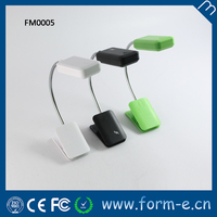 With long workong time flexible led battery clip light