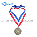 metal trophy medal with lanyard
