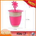 RENJIA custom silicone cup sleeve cup lid ceramic coffee mug with silicone lid