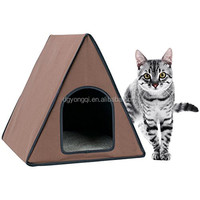 Indoor or Outdoor Waterproof Washable Cover Collapsible Heated Pet House