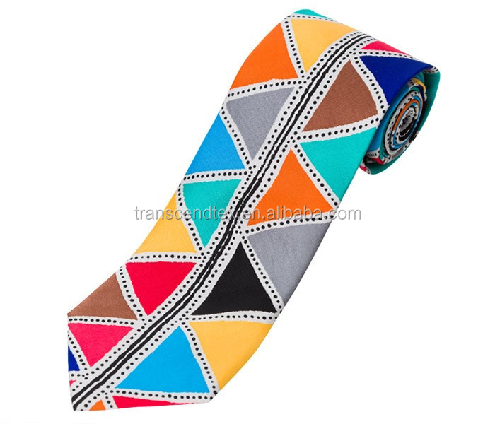 high quality custom print hand made Silk Tie