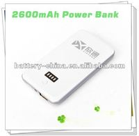 Sliver Super Thin Popular USB 2600mAh Mobile Power Supply for iPhone, iPad, Samsung Galaxy S2/S3, HTC, BlackBerry...