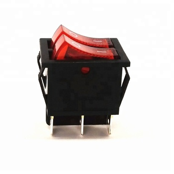 KCD1 16a 250vac illuminated t125/55 6 pin rocker switch