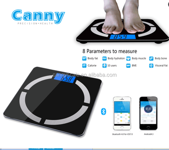bluetooth body weighing scale with fat analyser 396lbs